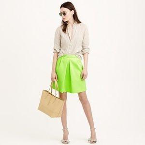 J. Crew Neon Lime Mini Skirt 💜
